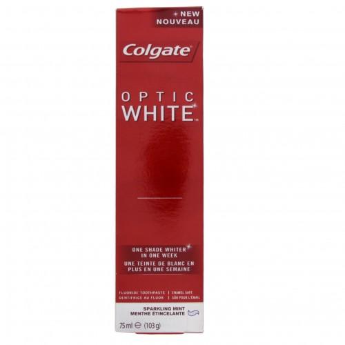 Colgate Fluoride Toothpaste Optic White Sparkling Mint 75ml x 1 pc
