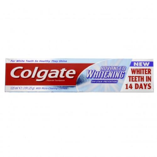 Colgate Fluoride Toothpaste Advanced Whitening 125ml x 1 pc