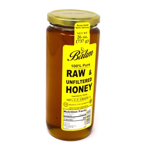 Balum Raw Unfiltered Honey 22 oz x 1 pc