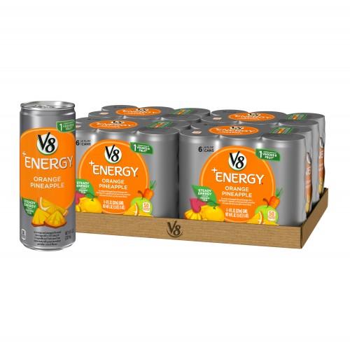 V8 +Energy Orange Pineapple, 24 cans x 8 Fl Oz