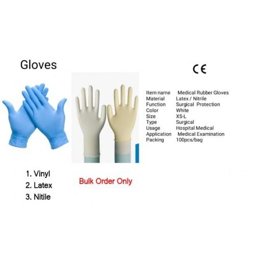 Gloves-Vinly-Latex-Nitrile